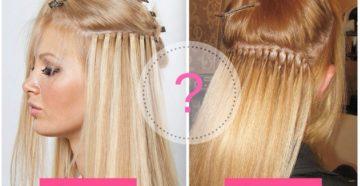 Сравниваем капсульное и ленточное наращивание волос