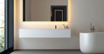 Как повесить зеркало в ванной   8 простых шагов